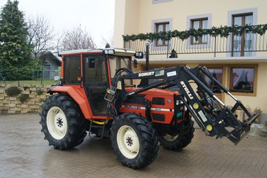 Tracteur agricole avec chargeur frontal occasion