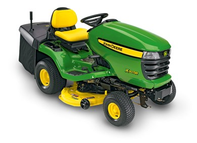 john deere x305r rasentraktor mit winterausr stung sichelm her. Black Bedroom Furniture Sets. Home Design Ideas