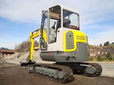bagger wacker neuson 38z3 minibagger excavator till 5t. Black Bedroom Furniture Sets. Home Design Ideas