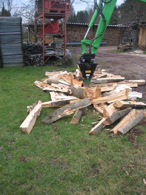 Gemeinsame Kegelspalter, Spindelspalter, Holzspalter an Bagger | Agropool #FR_84